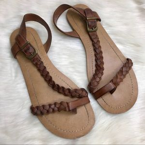 Mossimo Supply Co. Braided Brown Sandals